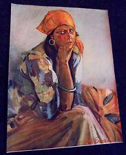 Roy Grossman, Gypsy Lady, Salesman Sample Large Calendar Print 1930's