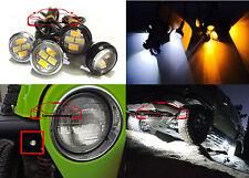 JDM Amber & White LED Turn Signal Light Fenders Lamp For Jeep Wrangler YJ JK TK
