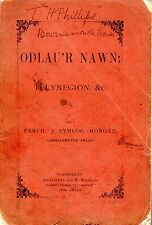 "WELSH POETRY - ""ODLAU'R NAWN: TELYNEGION"" - JOHN SYMLOG MORGAN - NEWCASTLE EMLYN"