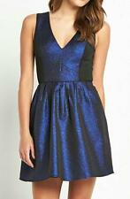 BNWT Girls on Film Blue Panelled Glitter Prom Evening Occasion Dress Size 16 NEW