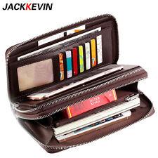 Men's Genuine Leather Business Wrist Clutch Wallet Card Handbag Zipper Bag Purse