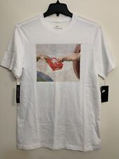NIKE TEE HEAVEN BOX LOGO ORANGE [AR5052 100] T-SHIRT CREATION WHITE SZ XL