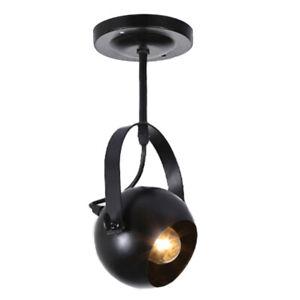 UK LED Eyeball Adjustable Spotlight Single Retro Wall Light Ceiling Light Black