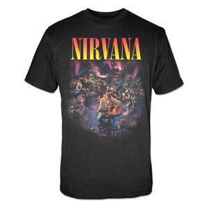 Nirvana Unplugged Men's Black T-Shirt Licensed Official S M L XL