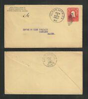 1907 NORTH BERWICK CO MAINE ADVERTISING COVER US STAMPED ENVELOPE