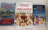 Debbie Macomber Lot Of 3 Christmas Books 1 Hardback 2 Paperbacks Preowned
