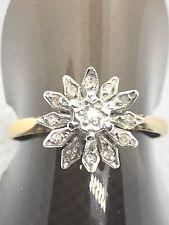 18ct Yellow & White Gold Diamond Cluster Ring