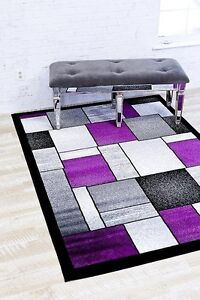 Purple Abstract Contemporary Area Rugs For Sale Ebay