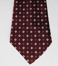 Debenhams vintage kipper tie Maroon check hippie made in Britain 1960s 1970s