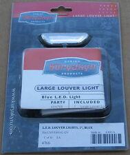 "Kuryakyn L.E.D. LED Universal 12 Volt Louver Lights Blue 2"" 4766 Brand New U-907"