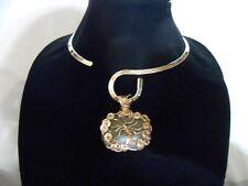 Celtic Irish Connemara Marble Gold Tree of Life Fairy Tree Necklace