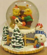 "San Francisco Music Box Company Bears snow globe ""We Wish You a Merry Christmas"""