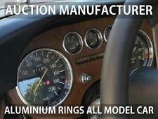 Lancia Fulvia 63-76 Poliertes Aluminium Armaturenbrett tachoringe Tacho Ringe x5