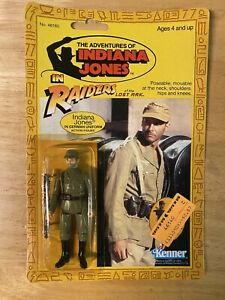 Indiana Jones ROTLA Indiana Jones (German) Figure - 1982 Kenner 9-Back - MOC