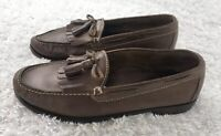 Cole Haan Mens Brown Leather Loafers Dress Shoes Size 8.5 Kilted Tassels C04741