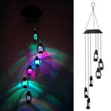 Retro Solar Powered Wind Chimes Color Changing Led Light Outdoor Garden Decor