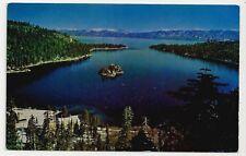 Postcard, USA, California-Nevada High Sierra, Emerald Bay on Lake Tahoe