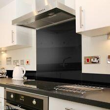 Black Glass Kitchen Splashback Splash Back - 60cm x 75cm