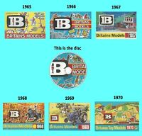 Britains Toy Models 1965 1966 1967 1968 1969 1970 Catalogues on a quality DVD