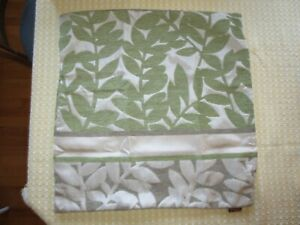 """NWOT FABLE  Avocado & Tan LEAF DESIGN Zippered PILLOW COVER CASE - 18"""" x 18"""""""