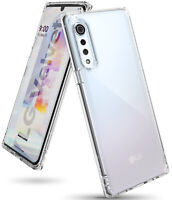 For LG Velvet Case | Ringke [Fusion] Clear Shockproof Protective PC + TPU Cover