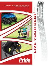 PRIDE JAZZY ZERO TURN mobility scooter Owner / user manual