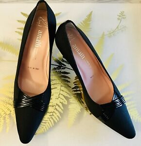 Amalfi Exclusively For Nordstrom Womens Heels Made In Italy Sz. (6B) Black