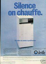 Publicité advertising 1979 La Chaudière de Cuisine Deville