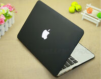 [2 in 1 Case+Keyboard] 11.6 inch Black Rubberized Hard Macbook Air A1370 / A1465