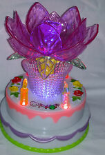 Fantastic Multicolour Rotating LED Lighted Music Cake With Happy Birthday Song