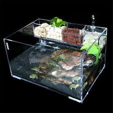 Acrylic Clear Aquarium Fish Tank w Water Pump Filter Home Office Desktop