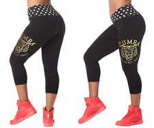 Zumba Roar Capri Leggings - Bold Black - All Sizes! Free Shipping!