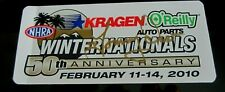 TV TOMMY IVO SIGNED NHRA AHRA 2010 50th ANV WINTERNATIONALS STICKER DECAL