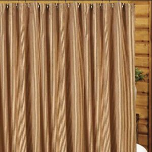 "York Ticking Barn Red and Nutmeg 72"" x 72"" Shower Curtain by Raghu"