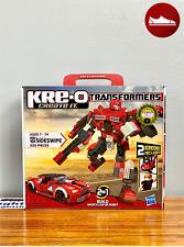 SIDESWIPE Transformers KRE-O Set, 220 pieces, NIB Build Sports Car or Robot 2in1