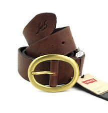 Levi´s Leder Gürtel 221436 braun Leather Belt Größe 85 cm (Breite 3,8 cm)