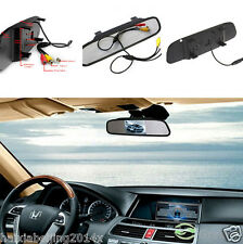 """Car Reverse Parking Camera Rearview Mirror 4.3"""" TFT Color HD LCD Display Monitor"""