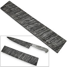 White Deer Damascus Steel Billet LONG FIRE Pattern Forge Welded 10