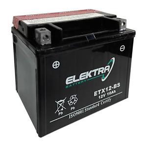 Batteria sigillata Elektra ETX12-BS -YTX12-BS- Piaggio Vespa GTS Super 300