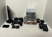 PlayStation 2 PS2 PS1 Slim Black Console Bundle 2 Cons 12 Gms Final Fantasy Army
