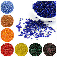 50g Transparent Glass Seed Beads Silver Lined Round Bracelet DIY Finding Charms