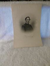 1879+ Antique Steel Engraving Civil War ARMY Brigadier General James Shields
