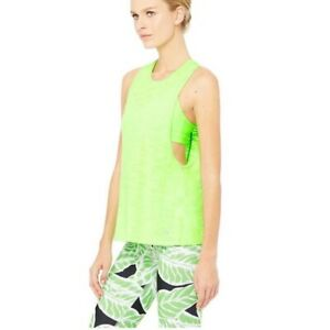 Alo Yoga Neon Green Breeze Muscle Tank Size XS S Bright Extra Small MSRP $58