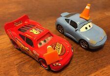 Disney Pixar Cars- Sally And Lightning McQueen With Cone.