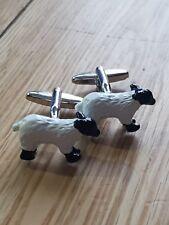 Sheep Farming Cufflinks Fully 3D Hand Painted Metal stag do best man wedding