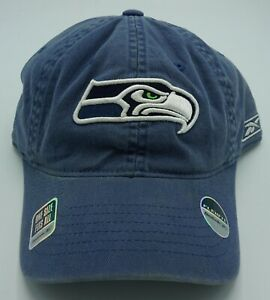 NFL Seattle Seahawks Reebok Adult Slouch Flex Fit Stretch-Back Hat Cap NEW!!!