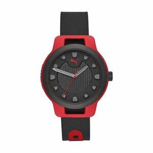 Orologio Uomo PUMA RESET V1 P5001 Silicone Nero Rosso Sportivo NEW