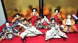 LOT 11 Vintage Japanese Hina Samurai dolls set Royal Family Plush Figure