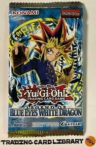 Yugioh - Legend of Blue-Eyes - Booster Pack - English - LOB - Sealed 9 Card Pack