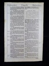 1611 KING JAMES BIBLE LEAF PAGE *BOOK OF GENESIS 41:44-43:1 *JOSEPH IS EXALTED*